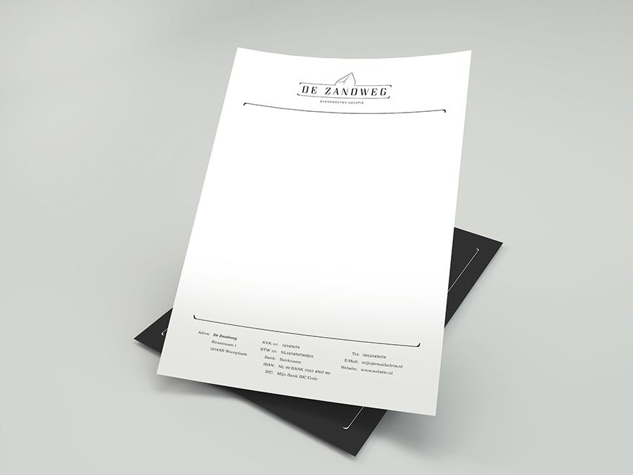 Briefpapier onderdeel van een prachtig huisstijl